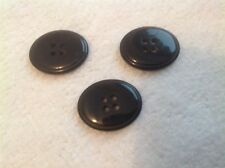 NEW 10 PC. BAG  7/8 INCH BLACK OVAL WITH SMALL ENGLISH RIM POLISHED FINISH