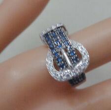 R Size 8.5 Buckle Design Sterling Elegant Designer Ring Singed