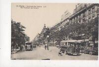 Paris Boulevard Des Italiens France [AP 152] Vintage Postcard 801a
