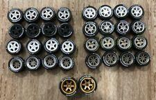 1:64 rubber tires & rims - Mix fit Hot Wheels diecast - 9 sets