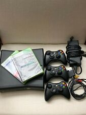 New listing Microsoft Xbox 360 S 4Gb Black Console + 2 Controllers + 2 Games - Never Used!