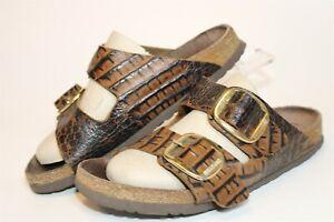 Birkenstock Womens Size 9 40 Arizona Big Buckle Slides Germany Made Flat Shoes