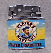 Vintage Players Navy Cut Cigarettes flat advertising lighter UNFIRED NICE
