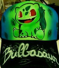 Pokemon Go Custom Airbrush Trucker Hat! Bulbasaur snapback personalized pikachu