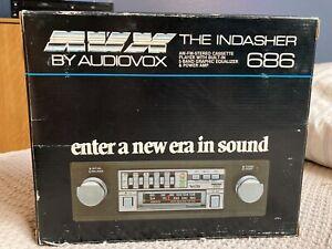 Audiovox AVX 686 Radio Cassette Player Car Stereo Shaft Style New