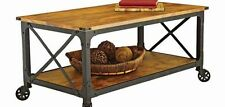 Rustic Coffee Table Industrial MDF Reclaimed Vintage Wood Furniture Modern New