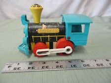Vintage Fisher Price pull toy Dinky 642 wooden train engine locomotive