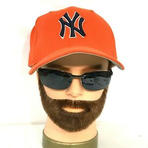 NY Yankees New Era Fitted  7 1/8 Hat Cap Orange MLB American League  [C15]
