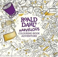 Roald Dhal Marvellous Adventure Wonka BFG Charlie Art Adult Colouring Book Gift