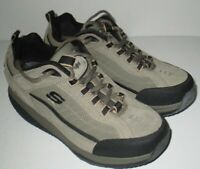 Mens Taupe Skechers Shape Ups Toning Fitness Walking Athletic Shoes 52000 Sz 9M