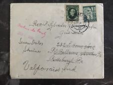 1940 Slovakia Cover Redirected To Valparaiso IN., USA Stamps #30,40