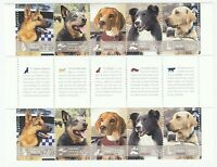 2008 AUSTRALIA 'WORKING DOGS' GUTTER STRIP - 10 x 50 cent MNH STAMPS