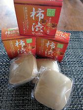 Incredible 柿 PERSIMMON SOAP Japan MADE / anti-aging + odor /Bundle of  THREE (3)