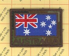 AUSTRALIA ARMY FLAG PATCH COMBAT MORALE MILITARY GREEN MULTICAM MILSPEC ACU LEAF