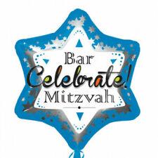 "21"" Bar Mitzvah Blue Junior Shape Foil Balloon - new in pack"