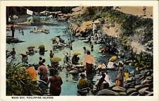 PC CPA PHILIPPINES, WASH DAY, Vintage Postcard (b19076)