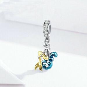 Diy1Pcs Silver European Cz Charm Crystal Spacer Beads Fit Necklace Bracelet M60