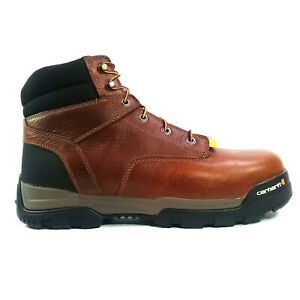 """Carhartt Mens Ground Force 6"""" Waterproof Composite-Toe Work Boots Size 12W"""