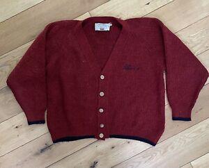 Men's Levi's Vintage Alpaca Wool Red Cardigan Size Large