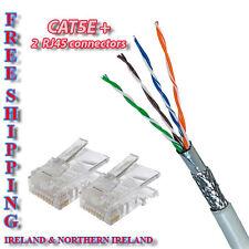 CAT5E indoor NETWORK ethernet LAN CABLE 100m cut + 2 RJ45 Connectors