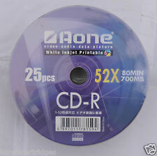 100 x Aone Blanco Imprimible CDR 52x 80min 700mb