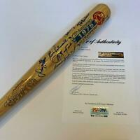 Beautiful 1975 Boston Red Sox AL Champions Team Signed Cooperstown Bat PSA DNA