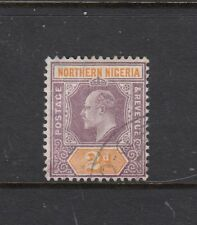 NORTHERN NIGERIA: 1905 KEVII 2d Dull Purple & Yellow Ordi Paper SG 22, fine used