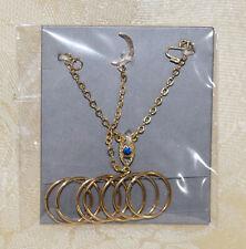 """IT NU. Face 12.5"""" Rayna Eye Candy Necklace Bracelets Jewelry Set"""