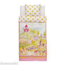 IKEA NATURKAR - Duvet Cover and Pillowcase Twin Size Pink Princess Castle Cotton