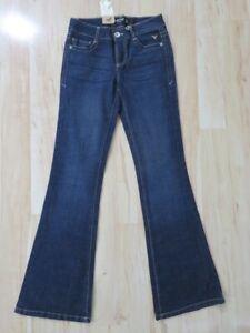New Women's Grane Distinct Episode Jeans Blue Denim Pants Mid Rise Flare Size 0