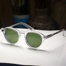 d400f4b2f3 Vintage sunglasses mens Johnny Depp glasses round crystal frame green glass  lens