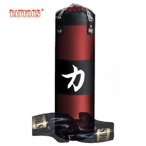 Design Sandsack Boxsack- POWER UFC MMA original 120cm mit HALTERUNG + HANDSCHUHE