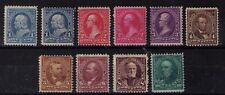USA 1894/96 1c to 10c with extra shades very fine mint