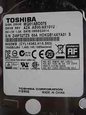 "Toshiba 750 GB MQ01ABD075 / AZA AB00/AX101U S/N:Z48FS2TZS 2,5"" disco rigido"