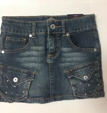 NWT Girls Denim Skirt Almost Famous 8