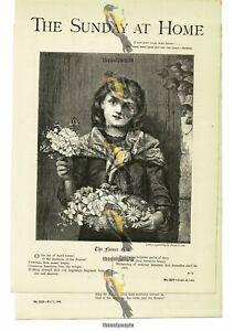 Flower Girl, Illustrated Poetry, M. R. , Book Illustration (Print), 1885