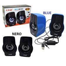 Casse Audio led Speaker Altoparlanti Usb 2.0 per Pc  Notebook Stereo Linq A2000
