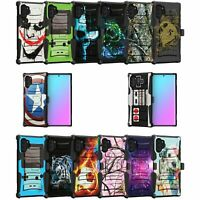 For Samsung Galaxy Note 10 Plus 6.8 Holster & Kickstand Case Cool Designs