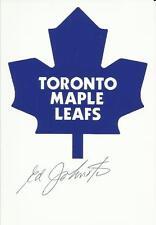 Ed Johnston Autographed Signed Toronto Maple Leafs 4 X 6 NHL Logo Photo w/COA