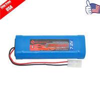 1x 7.2V 3800mAh Ni-MH RC Rechargeable Battery Tamiya Plug For RC Car Trucks USA