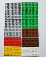 Lego Duplo 12x6 Flat Base Plate Lot of 12 Gray Green Brown White Red Yellow