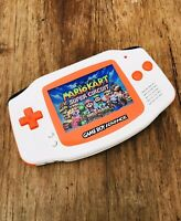 Nintendo Gameboy Advance GBA AGS-101 White Orange Handheld Console BACKLIT IPS 2