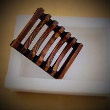 Retro Bath Accessories Handmade Natural Wood Soap Dish/Soap Holder Dispensers AU