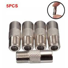 5PCS F Type Female Plug To TV Aerial RF Coaxial Male Connector Adapter Convertor