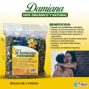 Damiana Leaf Turnera diffusa Aphrodisiaca excitante sexual 4 onzas - 113 gramos