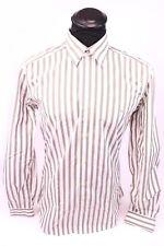 Lacoste schickes Herren Hemd Größe 40 Weiß gestreift Langarm Shirt guter Zustand