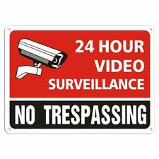 Security Warning Signs for Property Outdoor Indoor Under 24 Hour Video