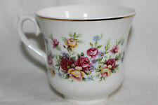 Queen Anne Bone China Small Pink Yellow Rose Pattern  Tea Cup