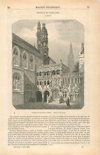 Basilique du Saint-Sang de Bruges Heilig-Bloedbasiliek Belgique GRAVURE 1855