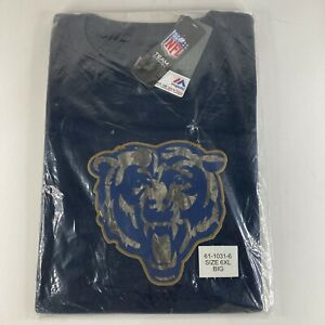 Chicago Bears Navy Camo Logo T-Shirt 6XL - NEW Officially Licensed Team Apparel